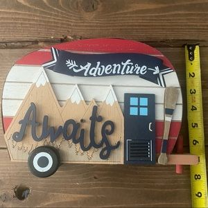 Tabletop Camper Trailer Summer Camp Decor